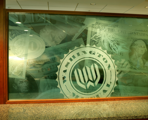 Multi-layered Kiln-formed and Sand-blasted Glass Divider Panels - BZ-012