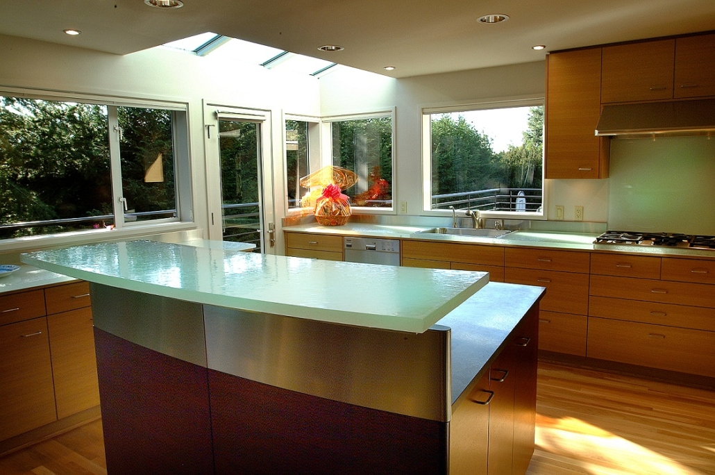 "1"" thick Arctic Dense Glass Counter Surfaces and Back Splashes - CT-025"