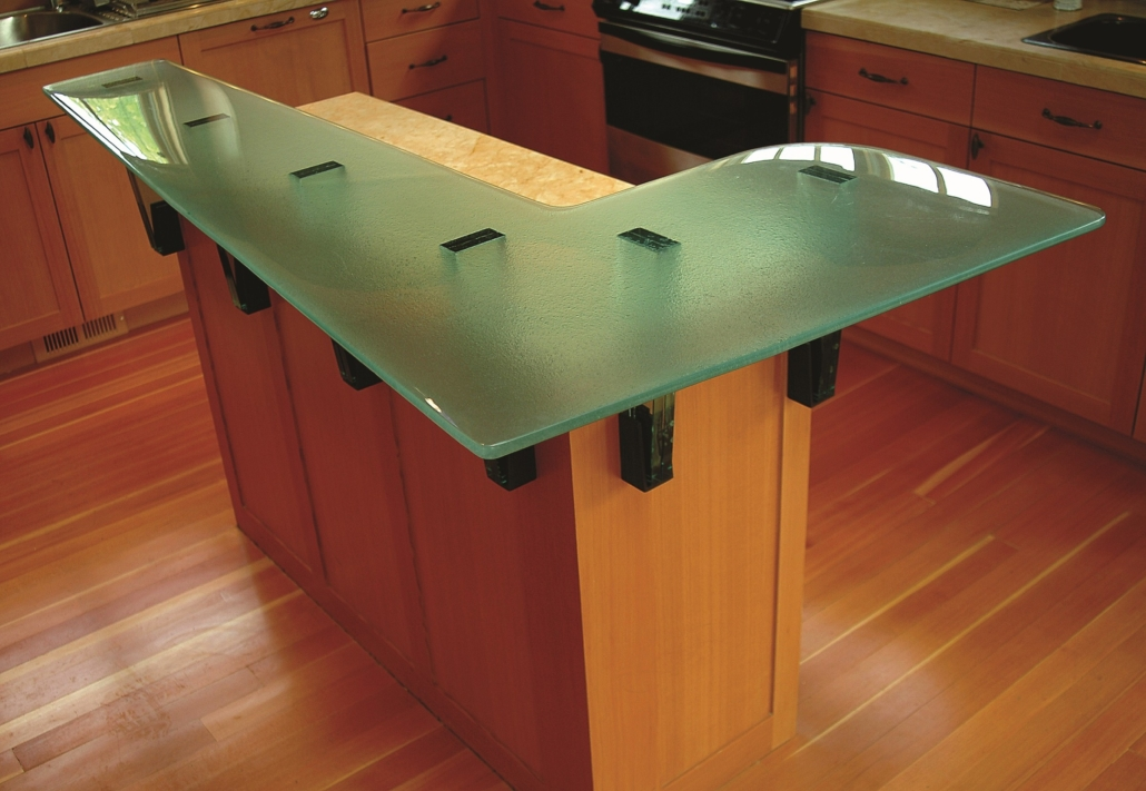 "3/4"" thick Slumped Glass Counter Top - CT-029"