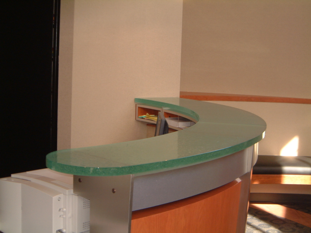 Caribbean Dense Glass Transaction Counter - CT-037