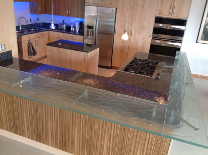 Legacy Crystal Glass Kitchen Counter - CT-058