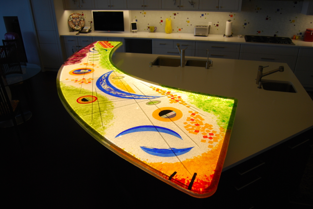 Custom Cast Glass Eating Counter - CT-070