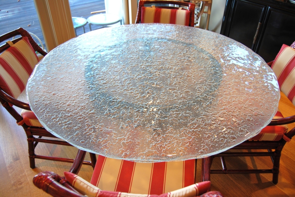 3-Layer Crumble Glass Dining Table - DT-016