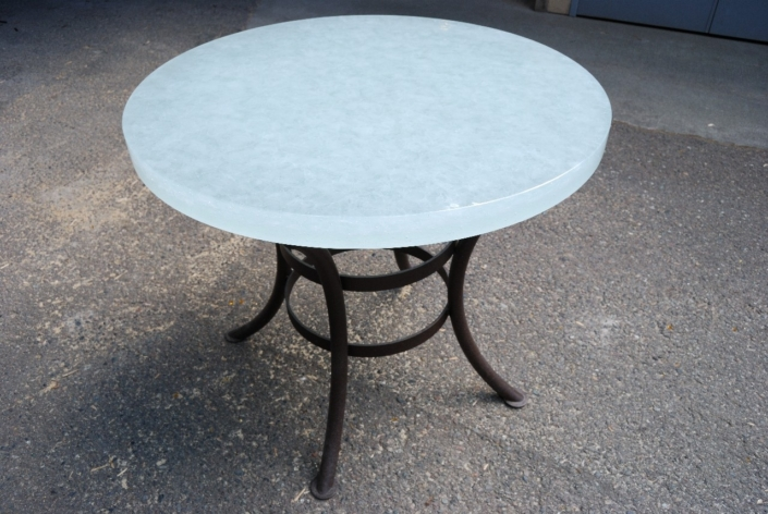 "2"" thick Arctic Dense Glass Cafe Table - DT-017"