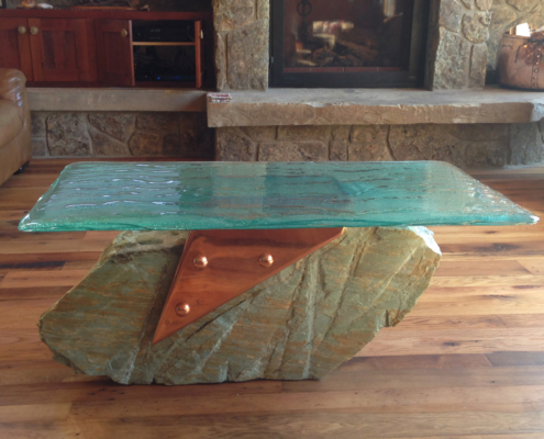 4-Layer Midori Glass Coffee Table - DT-019