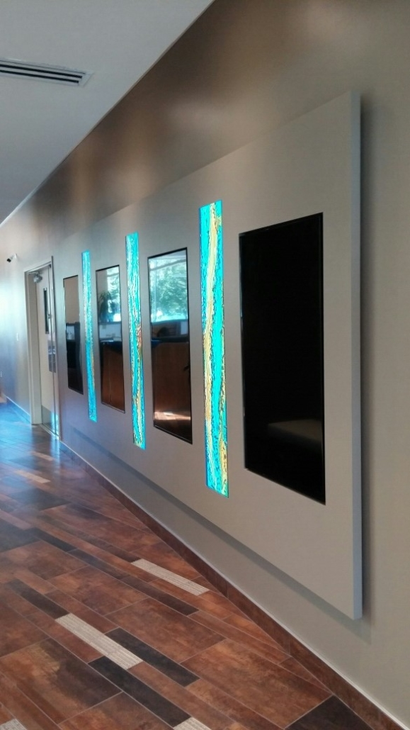 Custom Luna Slumped and Back-painted Glass Wall Lights - SP-021