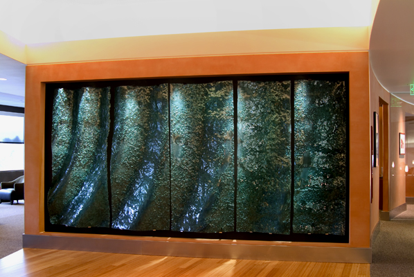 Custom Texture Art Glass Accent Wall - WP-004