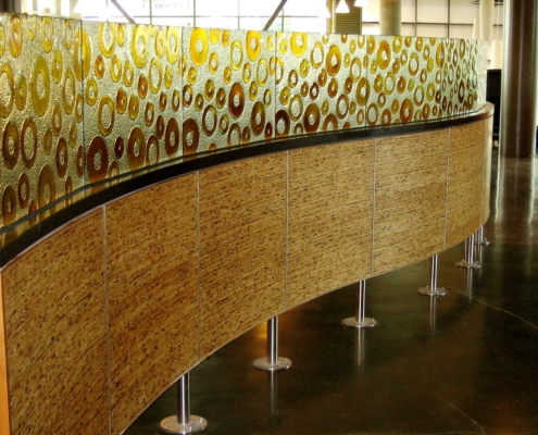 Custom Texture - Circles - Slumped Glass Privacy Partition - WP-020