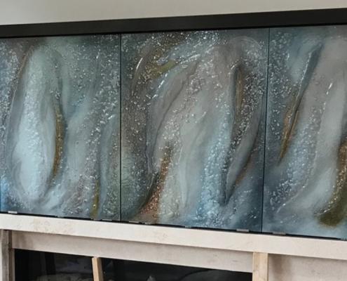 Luna Slump Back Painted Glass Wall Cladding - WP-028