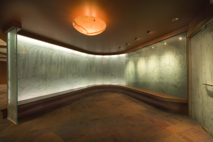 Custom Etched Glass Entrance Walls - WP-032