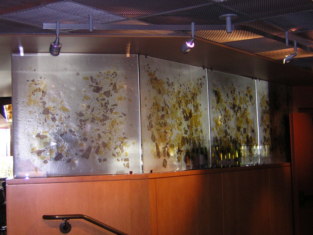 Custom Cast Glass Privacy Partitions - WP-038