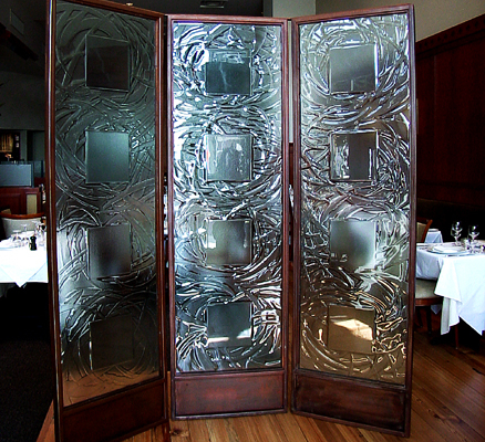 Custom Textured Slumped Glass Privacy Inserts - WP-044