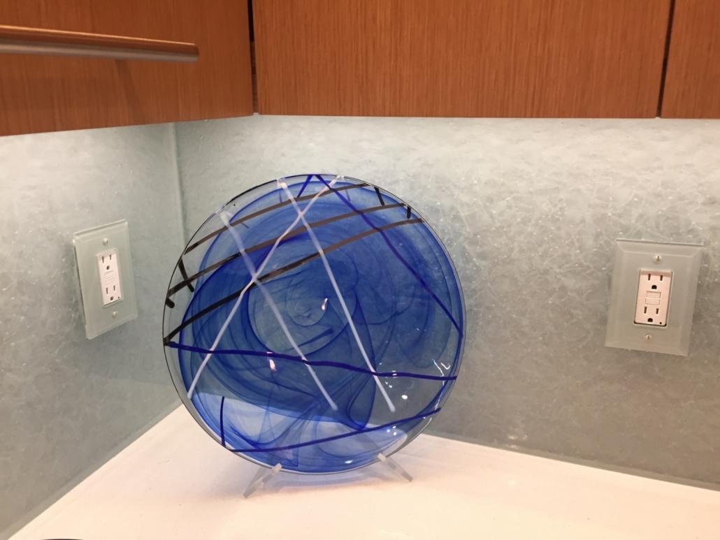 Arctic Wisp Glass Back Splash - WP-049