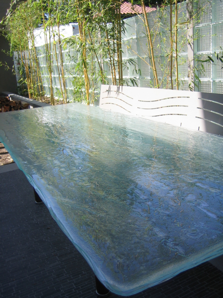 4-Layer Aisu Glass Patio Table - DT-028