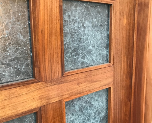 Arctic Wisp Glass Door Inserts - DW-023