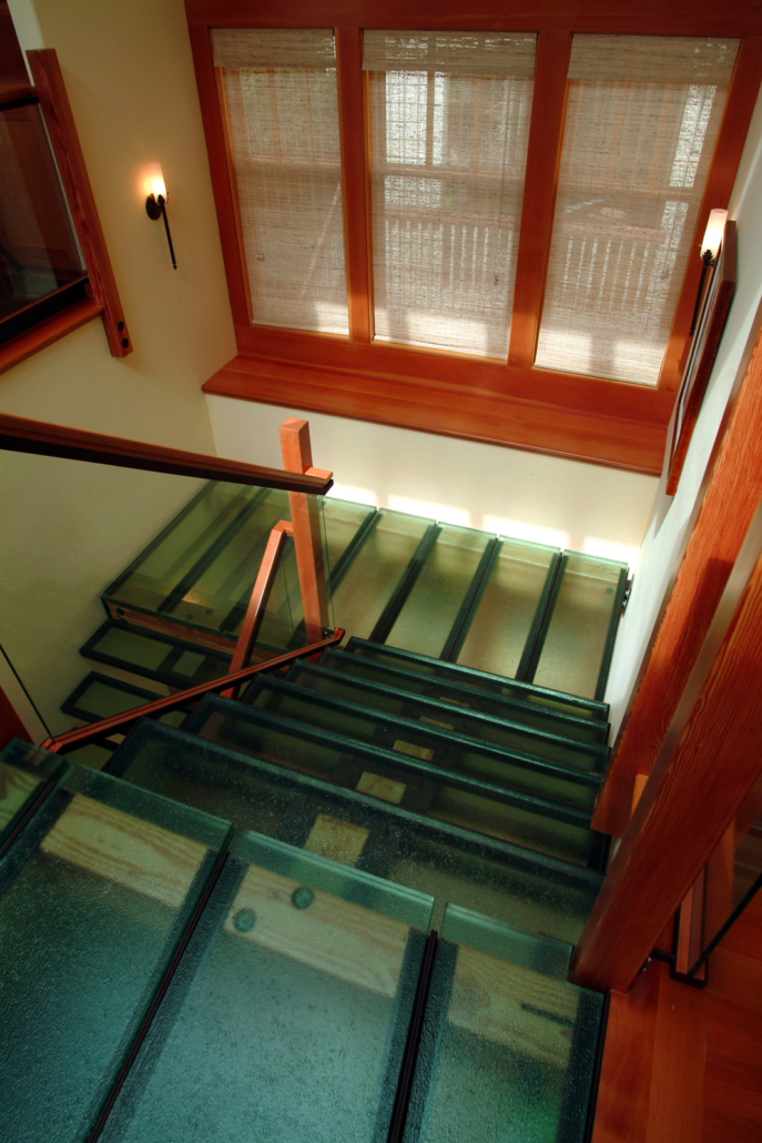 Legacy Green Stair Steps and Landing